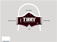 TBAY Print Custom Tie-Back Mask