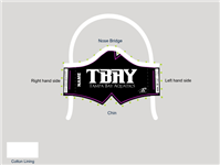 TBAY Solid Custom Tie-Back Mask