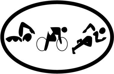 Triathlon Figures Magnet