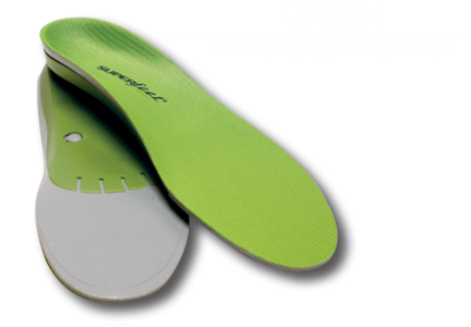 Unisex Superfeet Green (Heavy Walking Light Running)