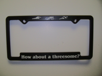 How about a threesome license plate frame