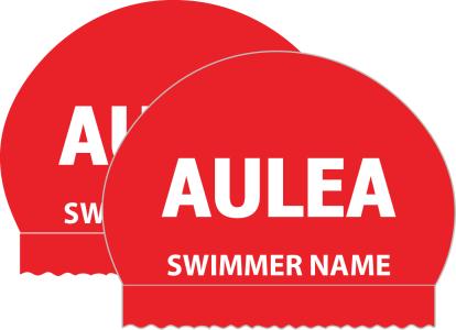Swimandtri 2x Personalized Aulea Team Silicone Caps