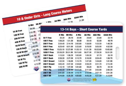 SwimAndTri: 2017-2020 USA Swimming Time Standard Bag Tag