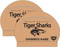 2x DeKalb Aquatics National Team Caps w/ Logo