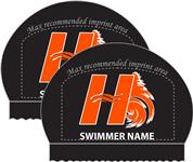 2x Personalized Black Silicone Hanover Caps