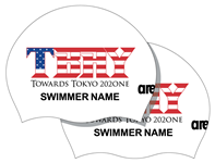 2x White TBAY Towards Tokyo 202ONE Personalized Silicone Caps