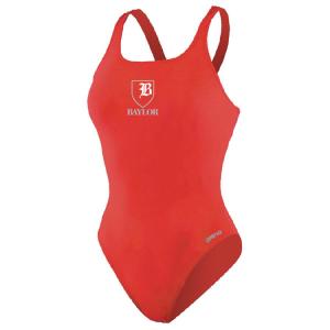 Baylor Swim Club Female Thick Strap Suit w/Logo