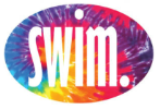 Swim. Tie Dye Sticker