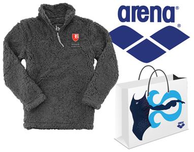 Baylor Sherpa Quarter Zip and Arena Grab Bag Girls Suit Bundle