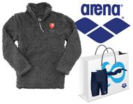 Baylor Sherpa Quarter Zip and Arena Grab Bag Jammer Bundle