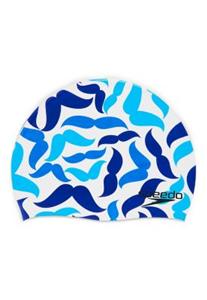 Blue Mustaches Silicone Cap