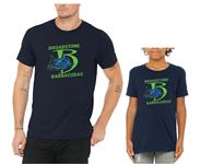 Broadstone Barracudas T-Shirt with Full B Logo