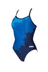 Carrollton Bluefins Female Printed Thin Strap Suit