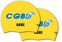 CGBD 2 x Personalized Speedo Silicone Caps