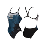 DeKalb Aquatics Printed Thin Strap Suit w/Logo