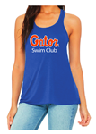 Gator Swim Club Ladies Royal Flowy Racerback Tank