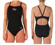 Gator Swim Club Solid Flyback Suit w/Logo