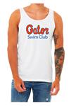 Gator Swim Club White Unisex Tank