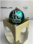 "I ""Heart"" To Swim Ornament"