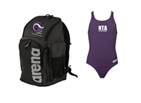 NTA Team Backpack and Thick Strap Suit w/Logo Bundle