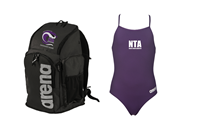 NTA Team Backpack and Thin Strap Suit w/Logo Bundle