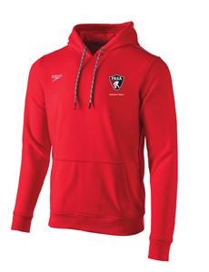 PASA Red Fleece Hoodie Sweatshirt w/Logo