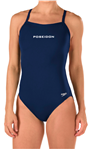 Poseidon Female Thin Strap Suit w/Logo