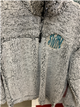 SWIM Monogrammed Sherpa Quarter Zip Pullover