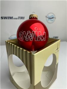 """""""SWIM"""" with Bubbles Ornament"""