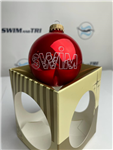 """SWIM"" with Bubbles Ornament"