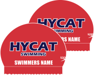 2x HYCAT Personalized Speedo Silicone Caps