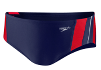 HYCAT Charleston Male Team Brief: Speedo Rapid Splice Brief Navy/Red