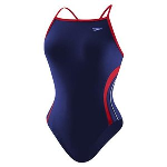 HYCAT Huntington Female Team Suit: Speedo Rapid Splice Energy Back Navy/Red