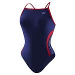 HYCAT Huntington Female Team Suit: Speedo Rapid Splice Energy Back Navy/Red