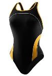 Amberjax Female Team Suit Mercucy Splice - Black/Gold