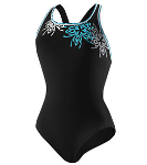 Speedo Brilliant Blossom Ultraback- Black