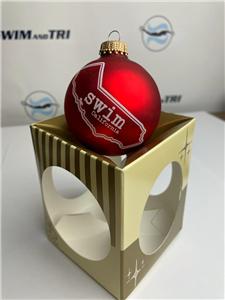 Swim State Christmas Ornament