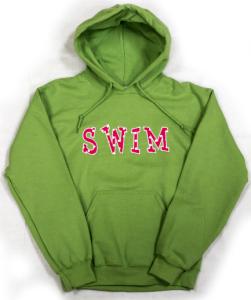 "Embroidered ""SWIM"" Hoodie"