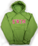 "Embroidered ""SWIM"" Hoodie"