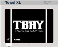 "TBAY Custom XL Microfiber Towel - 51""x35"""