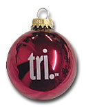 tri. Christmas ornament